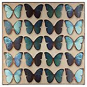 Teal Butterflies Wall Art