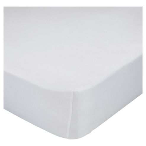 Finest Pima Cotton King Size Fitted Sheet, White