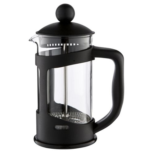 Tesco 3 Cup Plastic Cafetiere, Black