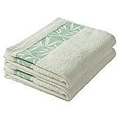 F&F Home Leaf Bath Sheet Pair White