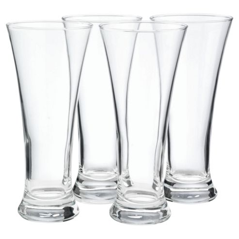 Set of 4 Pilsner Glasses