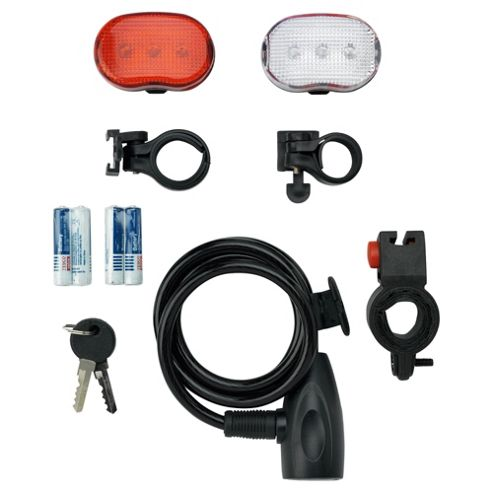 Activequipment Bike Lock & Light Set, 1m