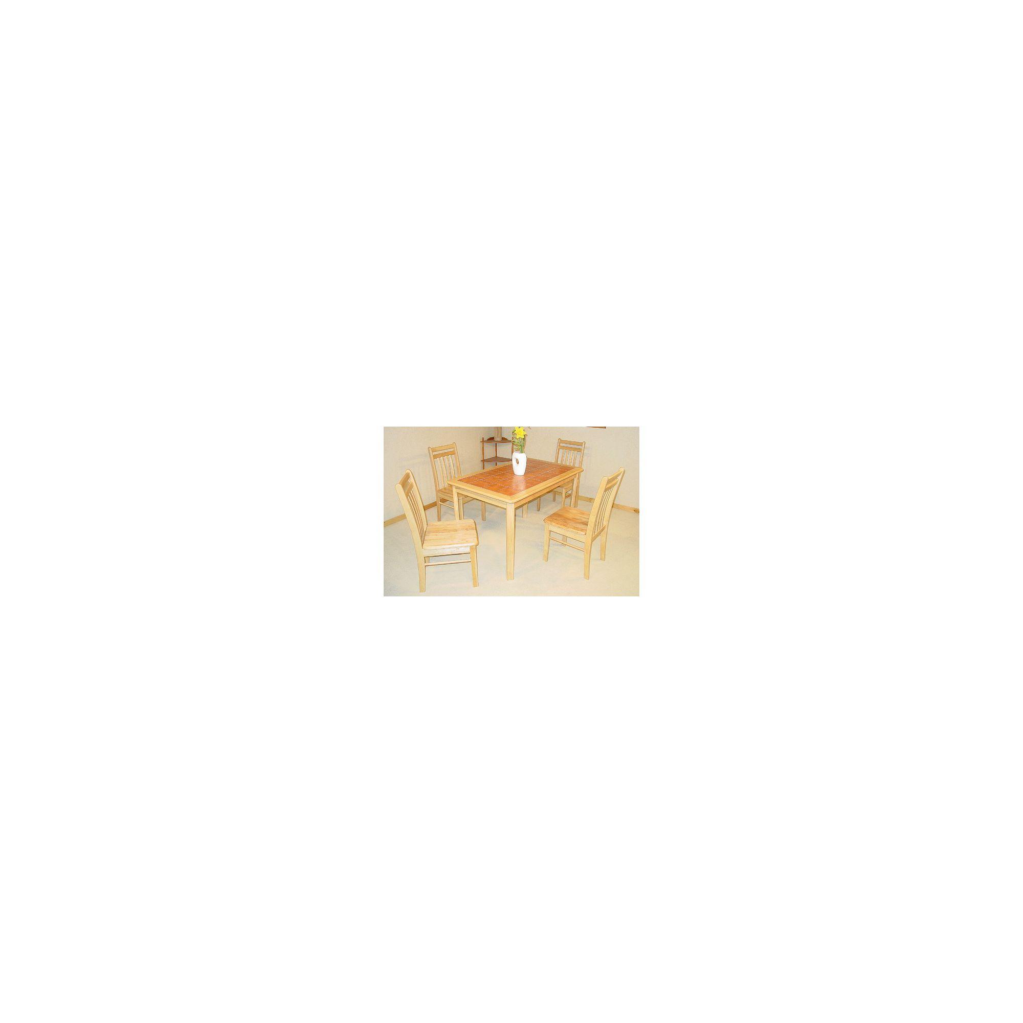 Heartlands Tiletop 5 Piece Dining Set - Terracotta at Tesco Direct