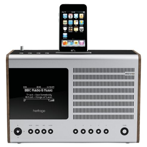 Revo Heritage DAB FM Internet Radio with iPod dock Walnut