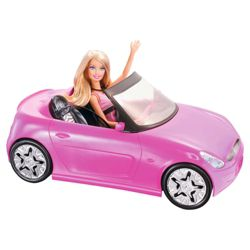 Barbie Convertible Car & Doll Pink