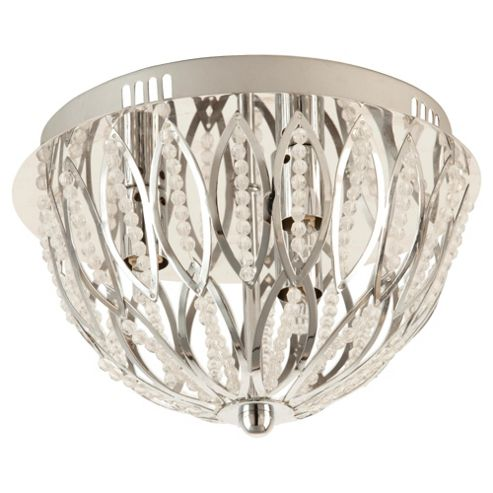 Tesco Lighting Bella Beaded flush ceiling light