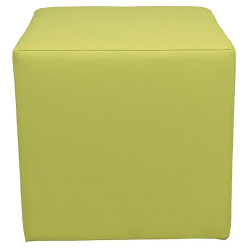 Stanza Leather Effect Cube Lime Green