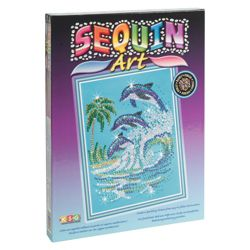 KSG Crafts Sequin Art & Bead Dolphins