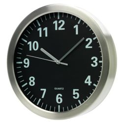 Tesco Clocks Black Face Wall Clock