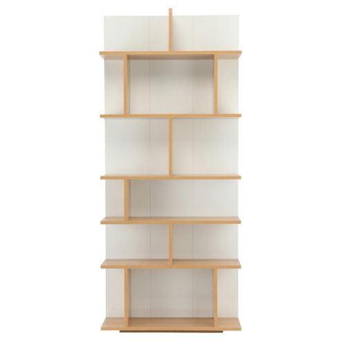 Genoa Shelving Unit, Oak-Effect & White Gloss