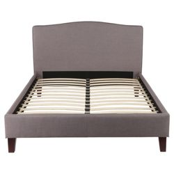 Roma Double High Back Fabric Bed Frame