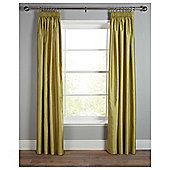 "Faux Silk Lined Pencil Pleat Curtains W229xL229cm (90x90"") - - Green"