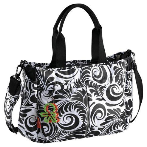 Okiedog Equinox Metro Messenger Baby Changing Bag, Black & White