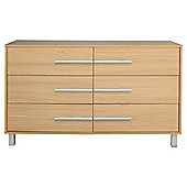 Riva 6 Drawer Chest, Oak-Effect