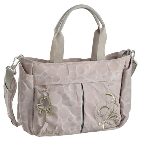 Okiedog Bliss Metro Messenger Baby Changing Bag, Beige