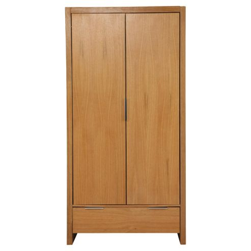 Cologne Double Wardrobe, Light Oak