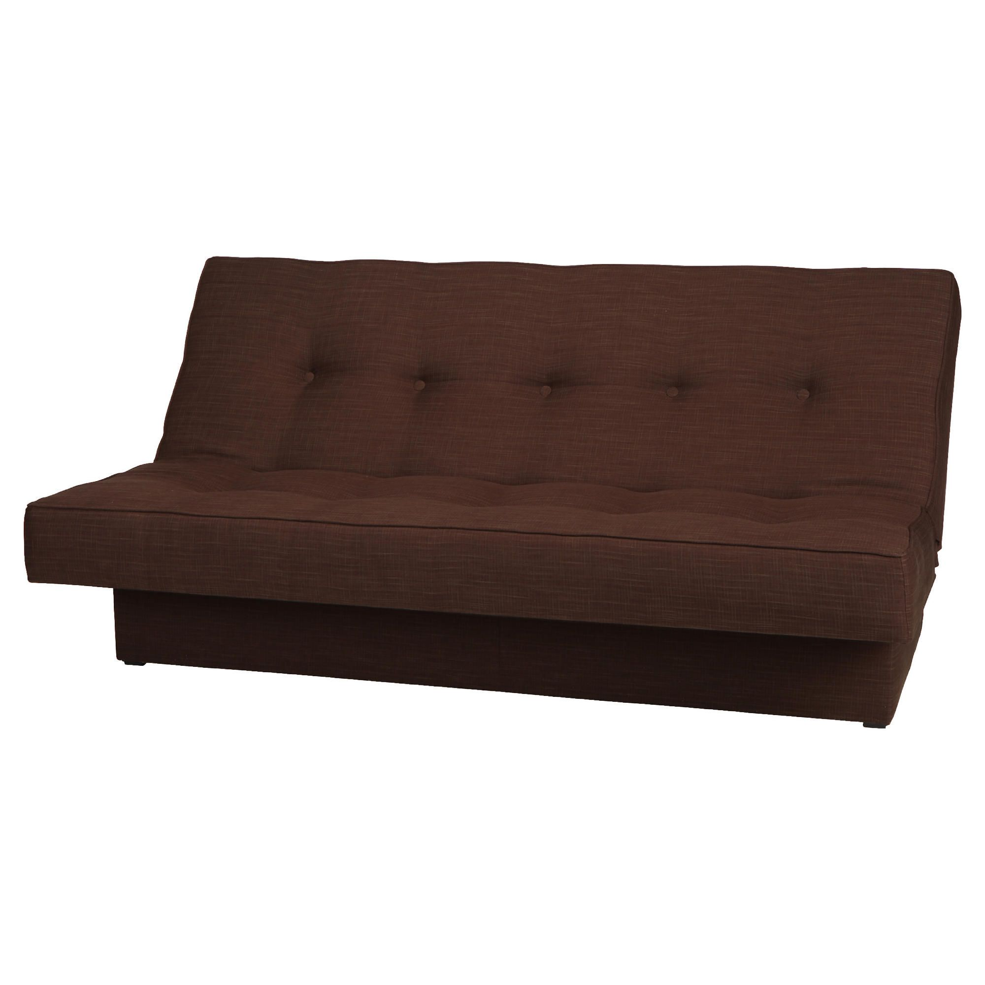 Clinton Fabric Pocket Sprung Clic Clac Sofabed Chocolate at Tescos Direct