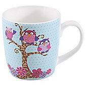 Tesco Owl Set of 4 Mugs