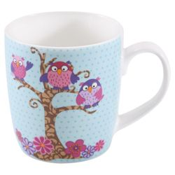 Tesco Owl Set of 4 Mugs.