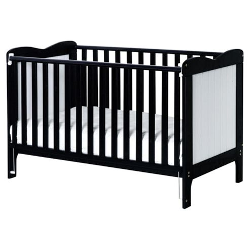 Saplings Stephanie Cot Bed, Black & White