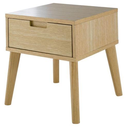 buy retro side table light oak from our side lamp tables range tesco. Black Bedroom Furniture Sets. Home Design Ideas