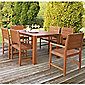 Hampton Wooden 6 Seater Patio Set