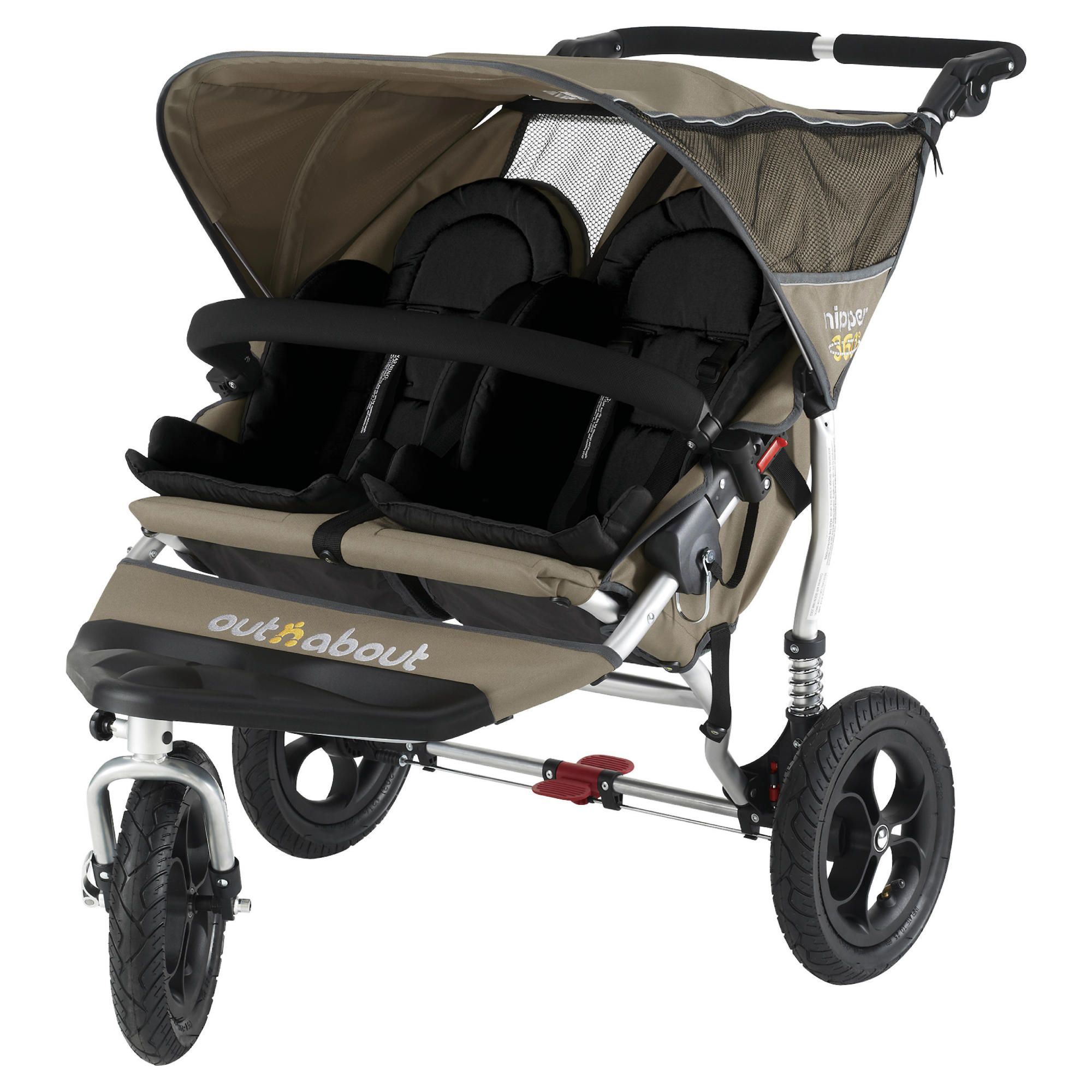 Out 'n' About V2 Nipper 360, Double 3 wheeler Pushchair, Carmel at Tesco Direct