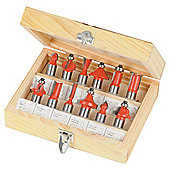 Silverline 1/2 TCT Router Bit Set 12 Pce
