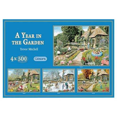 A Year in the Garden 4x500 Piece Jigsaws