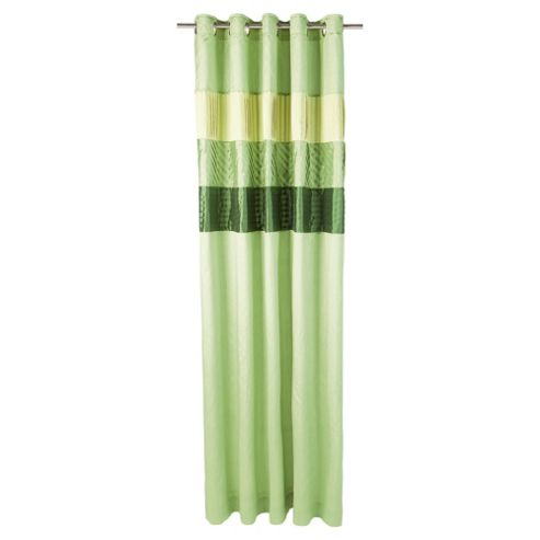 Tesco Pleated Faux Silk lined eyelet Curtains W163xL137cm (64x54