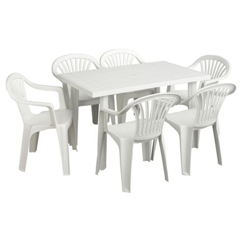 Buy white plastic garden furniture set from our garden for Plastic garden furniture