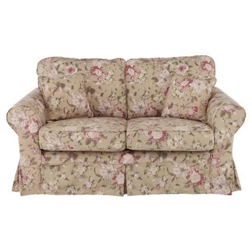 Louisa Loose Cover Only for Small 2 seater  Sofa, Floral Brown