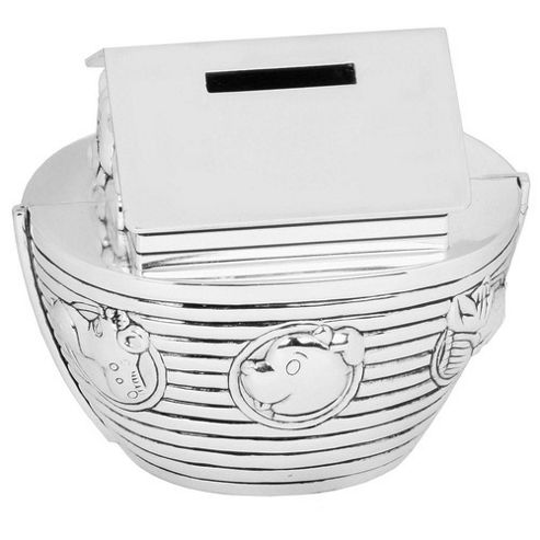 Silver-plated Noah's Ark Money Box