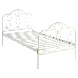 Florence Single Bed Frame, Cream