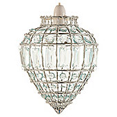 Tesco Lighting Emma Cone beaded pendant clear