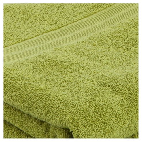 Tesco Bath Towel Pair Lime