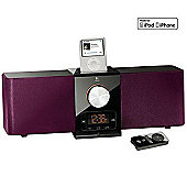 Logitech Pure-Fi Express Plus Speaker Dock (Purple) for iPod/iPhone.