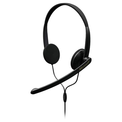 Microsoft Lifechat LX-1000 Stereo 3.5mm Overhead PC Headset & Microphone