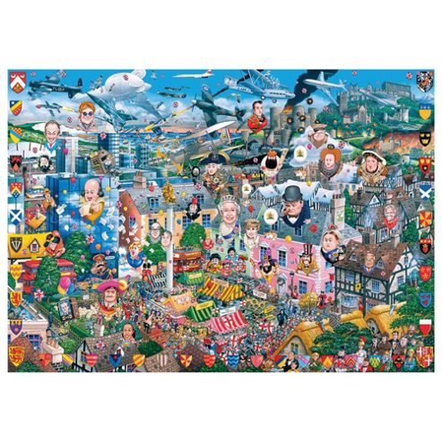 Games I Love Great Britain 1000 Pieces Jigsaw Puzzle