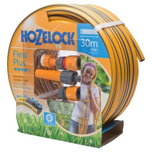 Hozelock Flexi Plus Hose 30m plus Starter Set