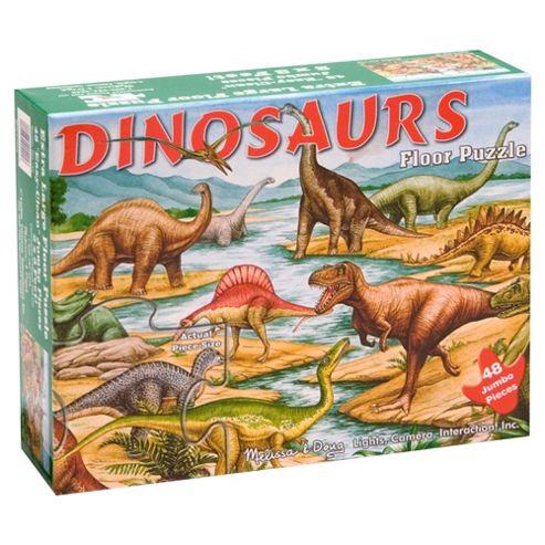 Melissa & Doug Dinosaurs 48-Piece Wooden Floor Puzzle