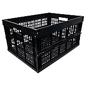 Tesco 32L Plastic Folding Crate, Black