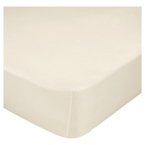 Finest Pima Cotton King Size Fitted Sheet, Ivory