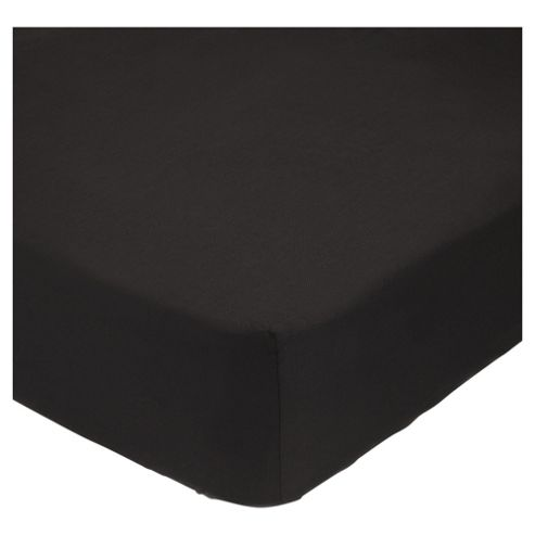Tesco Deep Fitted Sheet Double- Black