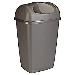 25L Swing Kitchen Bin, Platinum