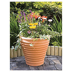 Strata Small Terracotta Colour Moroccan Pot, 43cm