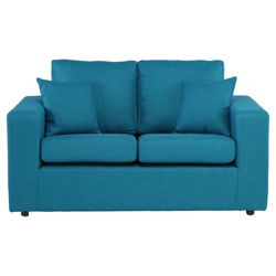 Maison Small Fabric Sofa Teal