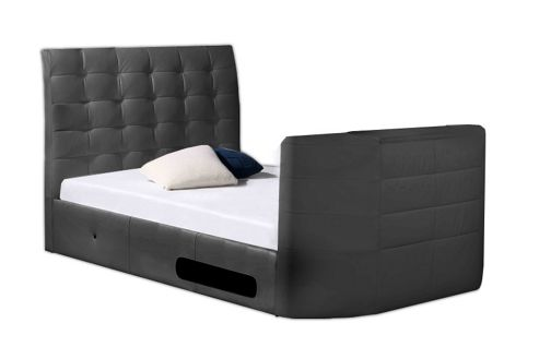 Hampton Double Wireless Tv Bed Frame, Black
