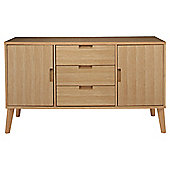 Retro Sideboard, Light Oak