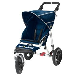 Out 'n' About V2 Nipper 360 , 3 wheeler Single Pushchair, Navy